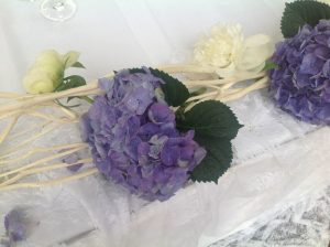 greek island wedding flowers