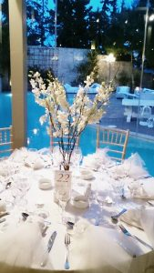 wedding table decoration white