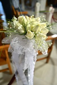 white roses for greek island weddings