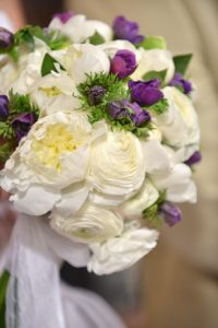 greek island bridal bouquet